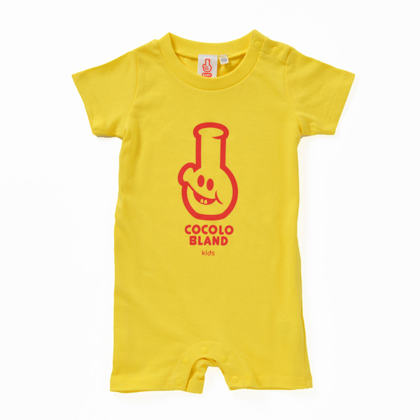 画像1: KIDSKUN S/S ROMPERS (YELLOW)