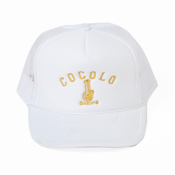 画像1: GOLDEN BONG MESH CAP (WHITE/GOLD)