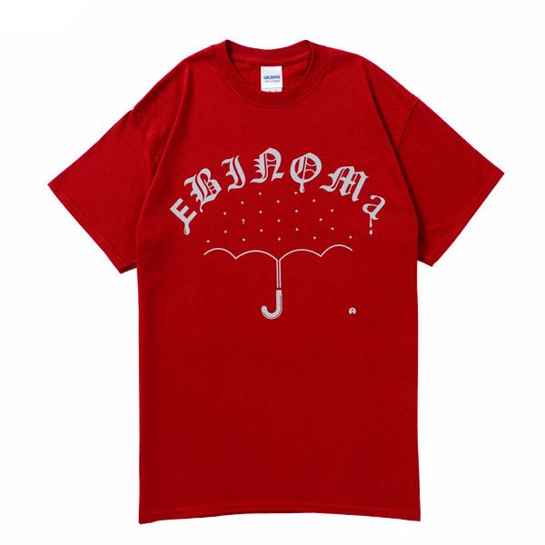 画像1: EBINOMA BRAND / RAIN GANG S/S TEE (BURGUNDY)