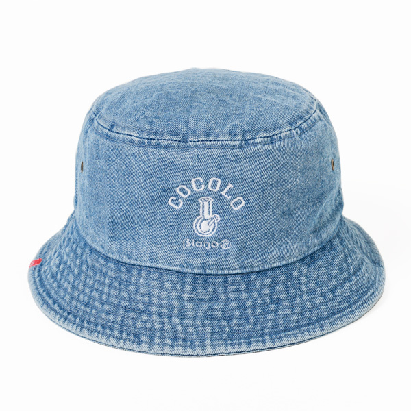 画像1: WASH DENIM ORIGINAL BONG BUCKET HAT