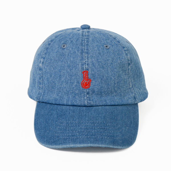 画像1: BONG EMBROIDERY 6PANELS CAP (DENIM)