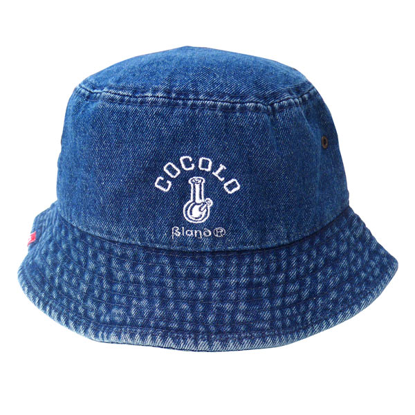 画像1: DENIM ORIGINAL BONG BUCKET HAT(denim×white)