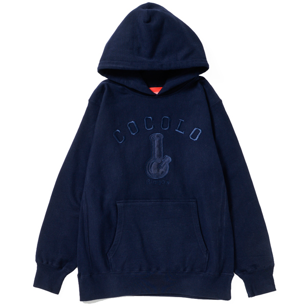 画像1: BONG APPLIQUE HOOD PARKA (NAVY)