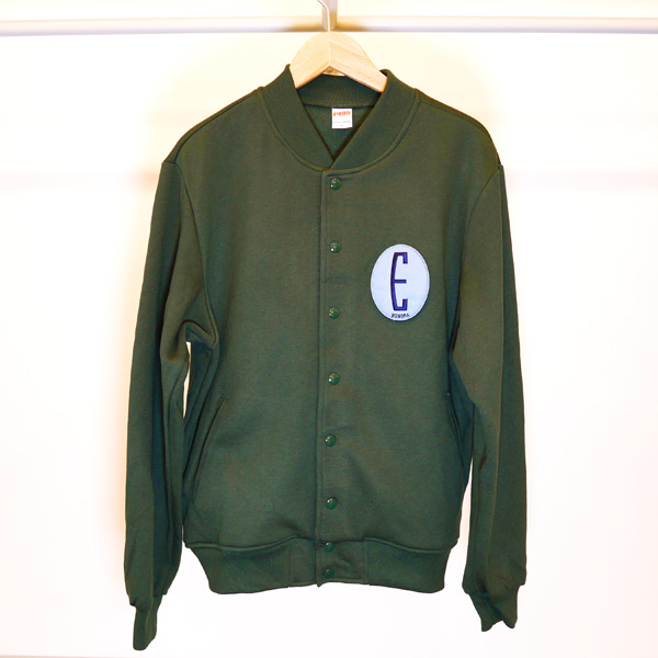 画像1: EBINOMA BRAND / BIG E STAJAN (DARK GREEN Mサイズ)