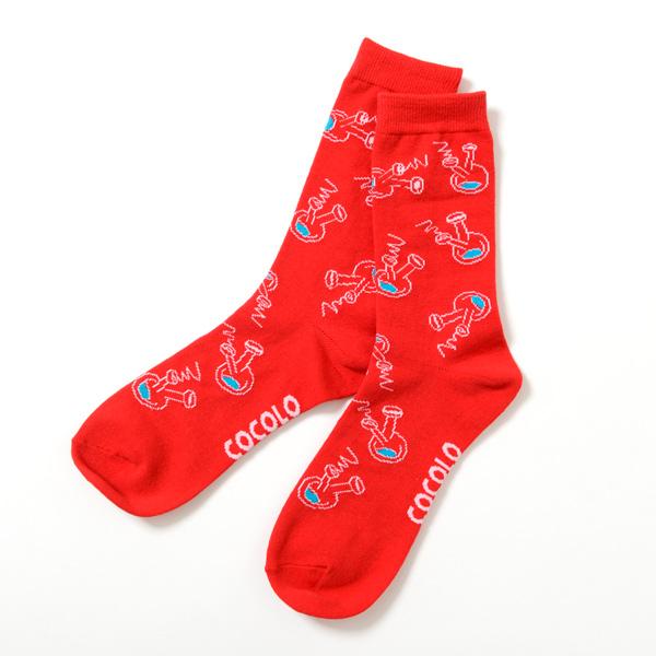 画像1: ROUGH BONG SOCKS (RED)