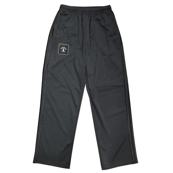 画像1: SQUARE LOGO PANTS(BLACK / GLOSS BLACK LINE)