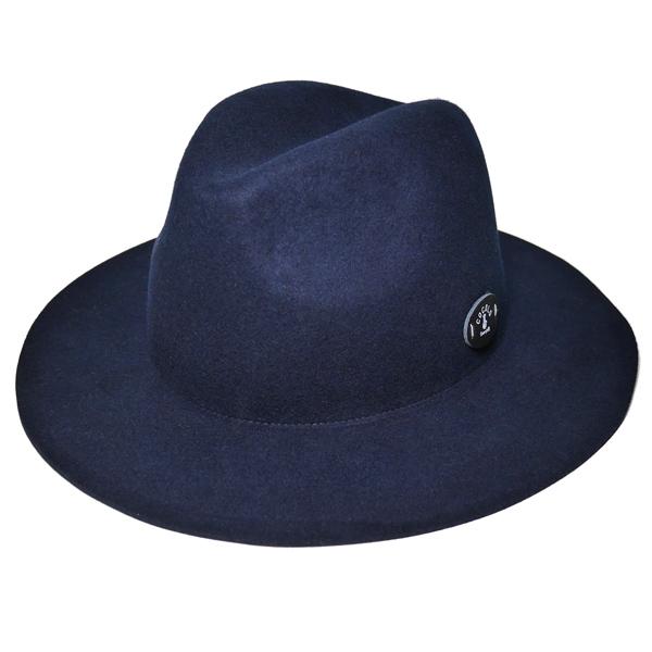 画像1: BONG WAPPEN WOOL BRIM HAT (NAVY)