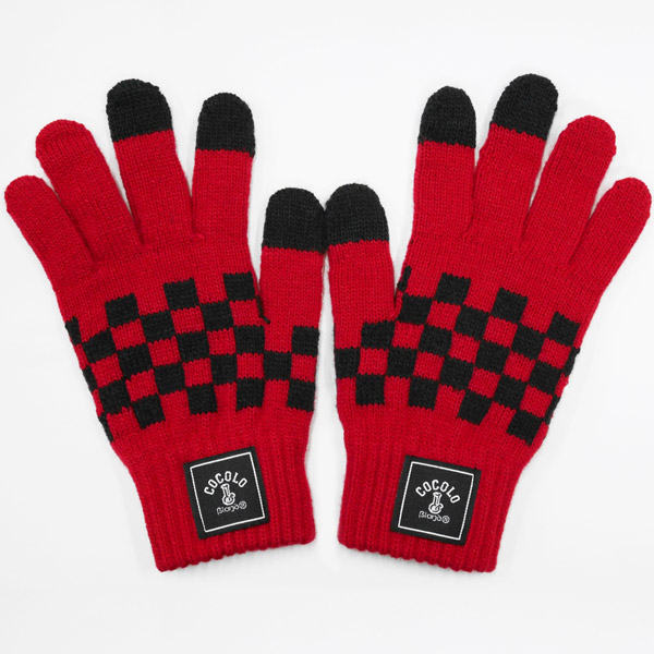 画像1: CHECKER GLOVE (RED) [For Smart Phone]