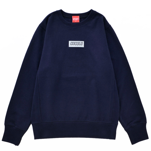 画像1: REFLECTOR WAPPEN CREWNECK SWEAT (NAVY)