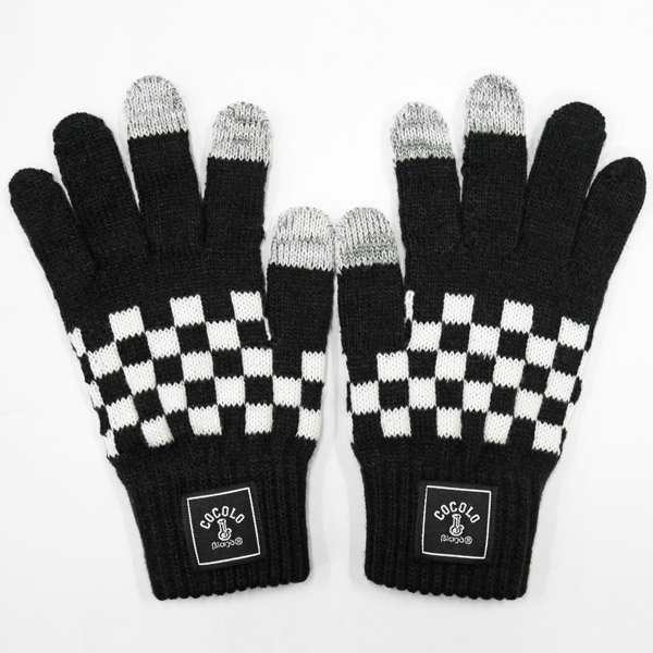 画像1: CHECKER GLOVE (BLACK) [For Smart Phone]