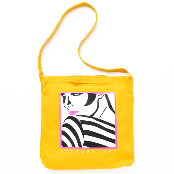 画像1: SALE DISKO GIRL TOTE BAG (GOLD YELLOW)