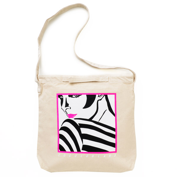 画像1: SALE DISKO GIRL TOTE BAG (NATURAL)