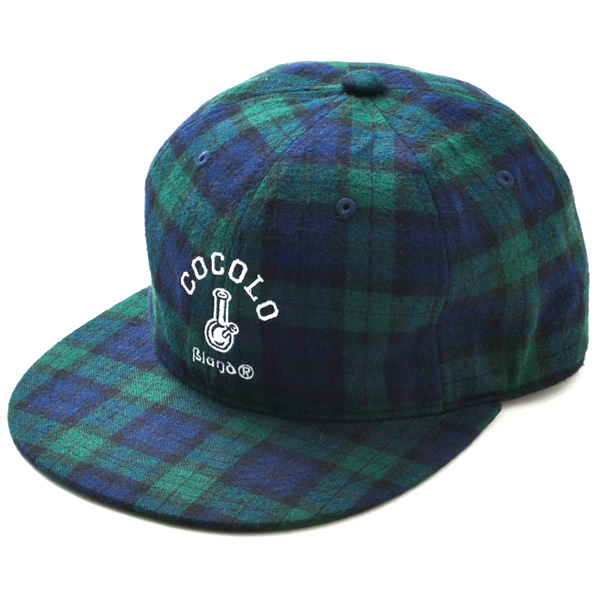 画像1: TARTAN CHECK 6 PANEL CAP (GREEN)