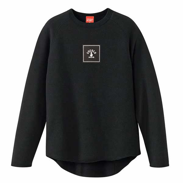画像1: SQUARE  LOGO CUT OFF SWEAT (BLACK)