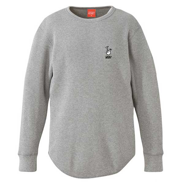 画像1: ROUGH BONG THERMAL L/S TEE (GRAY)