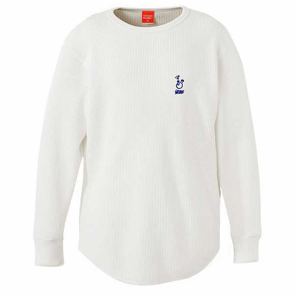 画像1: ROUGH BONG THERMAL L/S TEE (WHITE)