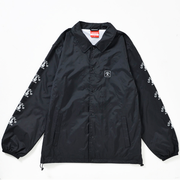 画像1: SLEEVE BONG COACH JACKET(BLACK)