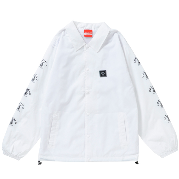 画像1: SLEEVE BONG COACH JACKET(WHITE)