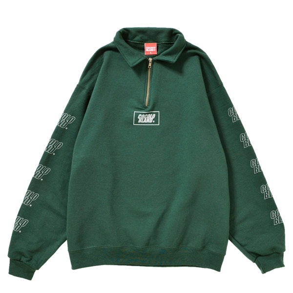 画像1: REFLECTOR LOGO HARF ZIP SWEAT (GREEN)