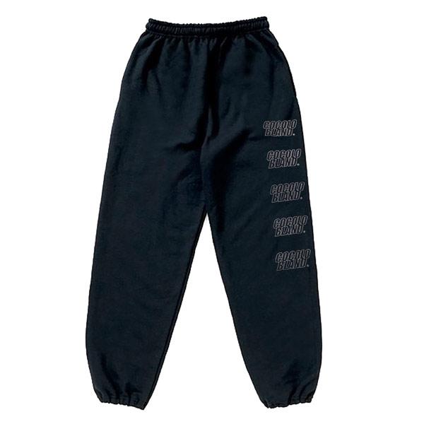 画像1: REFLECTOR LOGO SWEAT PANTS (BLACK)
