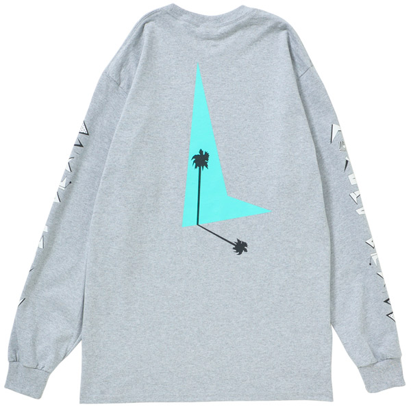 画像1: 80s PALM TREE L/S(GRAY)