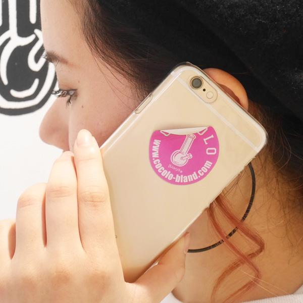 画像1: BONG STICKER HARD iPHONE CASE(CLEAR/PINK STICKER)