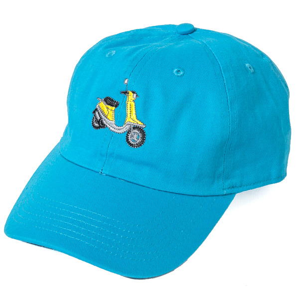 画像1: SALE!! SCOOTER 6PANEL CAP (TURQ BLUE)