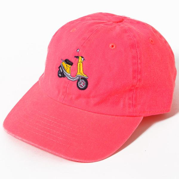 画像1: SALE!! SCOOTER 6PANEL CAP (NEON PINK)