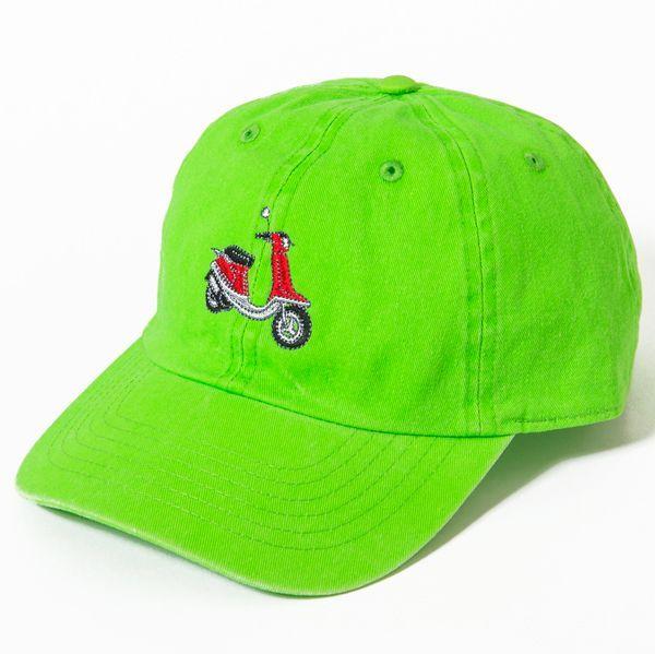 画像1: SALE !! SCOOTER 6PANEL CAP (NEON GREEN)