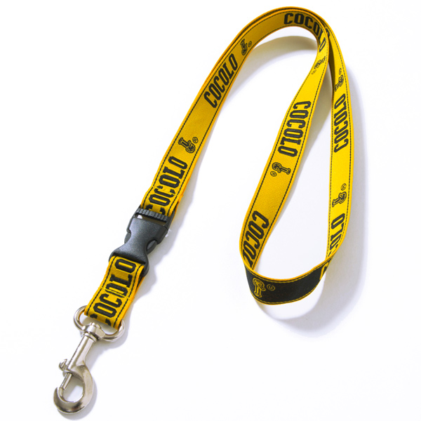 画像1: BIG LOGO NECK STRAP(YELLOW)