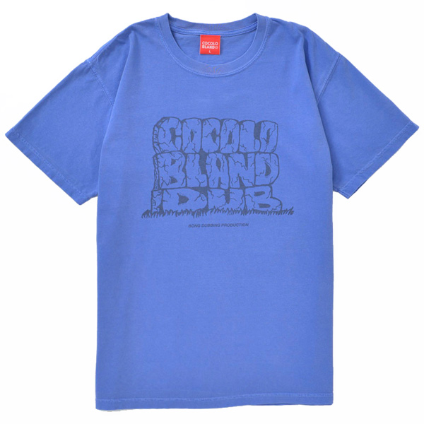 画像1: COCOLO BLAND DUB DYED TEE (BLUE)