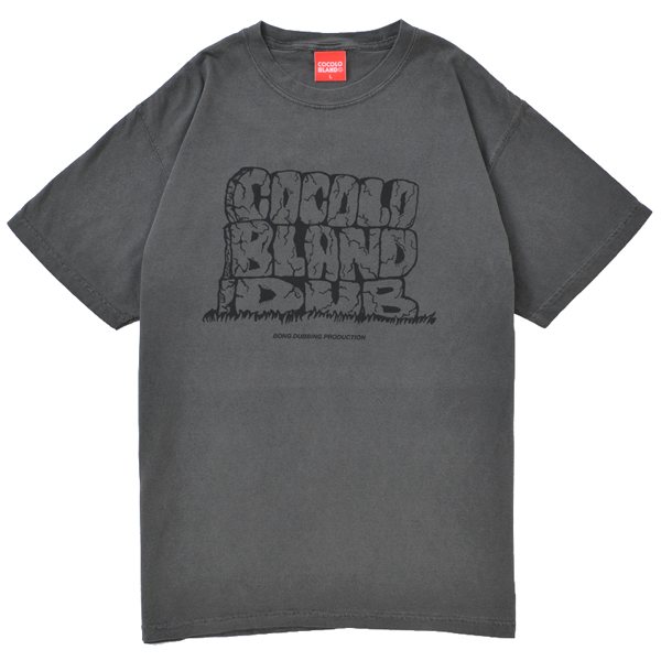 画像1: COCOLO BLAND DUB DYED TEE (PEPPER BLACK)
