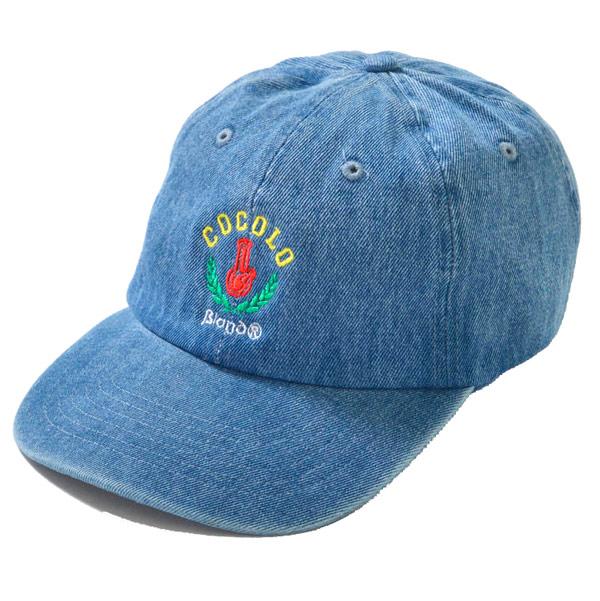 画像1: LEAF BONG 6PANEL CAP (WASH DENIM)