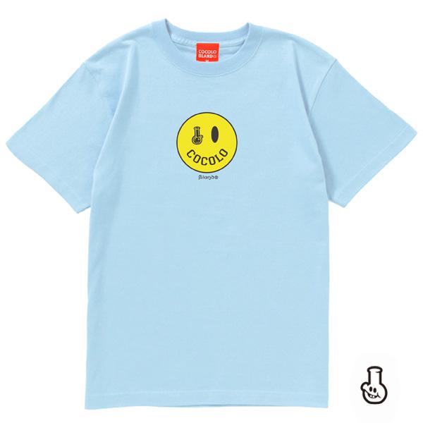 画像1: SMILEY BONG TEE (Lt-BLUE) KIDSサイズあり(別価格)