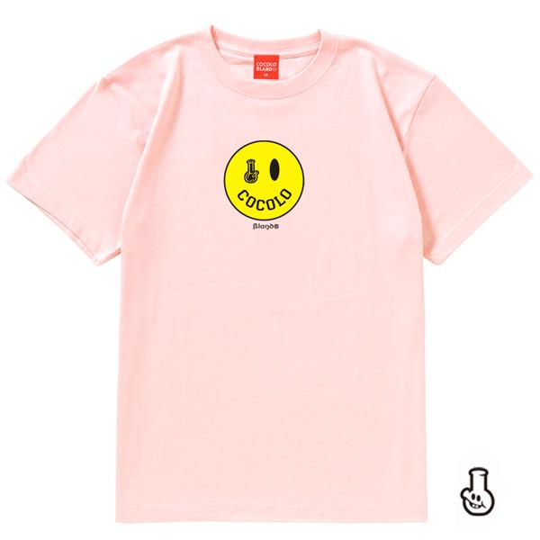 画像1: SMILEY BONG TEE (Lt-PINK) KIDSサイズあり(別価格)