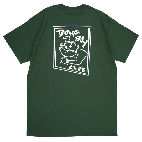 画像1: SALE BONG BOY POCKET TEE (IVY GREEN)