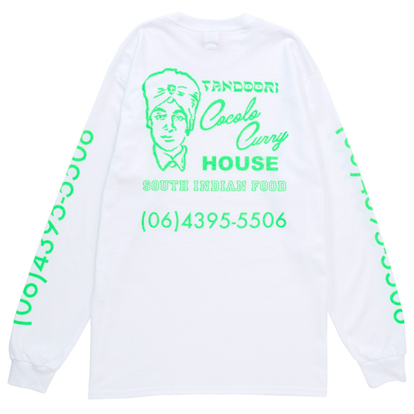 画像1: COCOLO BLAND CURRY SHOP L/S TEE (WHITE)
