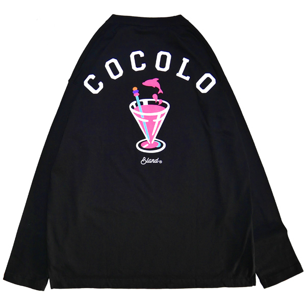 画像1: DOLPHIN COCKTAIL POCKET LOOSE L/S TEE (BLACK)