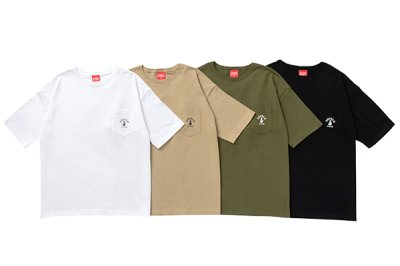 画像2: POCKET WIDE S/S  (OLIVE)