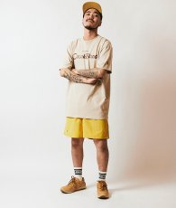 画像2: EMBROIDERY BONG NYLON SHORTS (MUSTARD) (2)