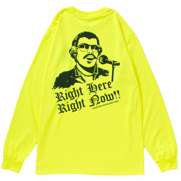 画像1: VINYL BITCH DEEJAY L/S TEE (NEON YELLOW ) (1)