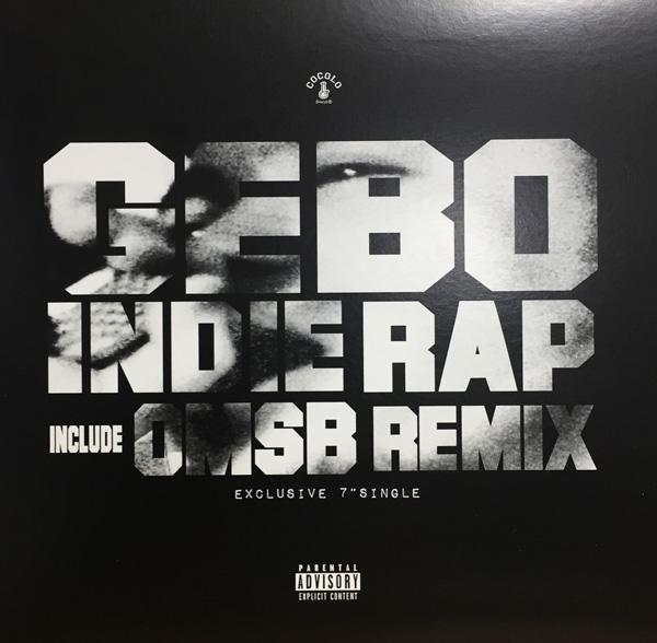 画像1:  GEBO/ INDIE RAP(7インチレコード) (1)