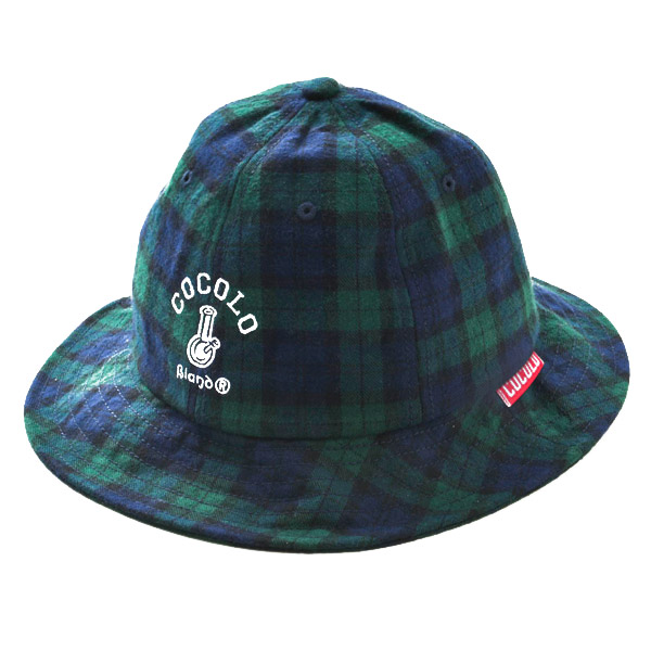 画像1: TARTAN CHECK METRO HAT (GREEN) (1)