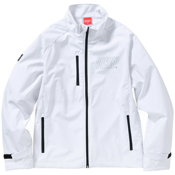 画像1: REFLECTOR LOGO SOFT SHELL JACKET(WHITE)
