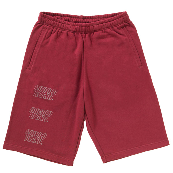 画像1: SALE!! OUTLINE LOGO SWEAT SHORTS(BURGUNDY) (1)