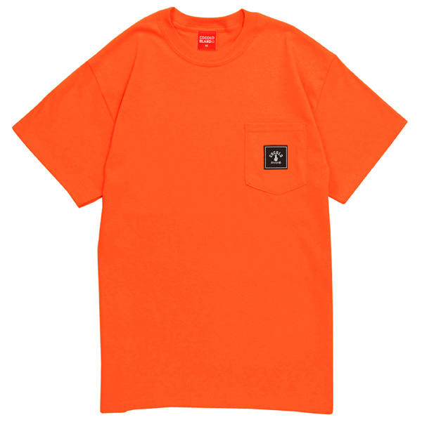 画像1: SQUARE LOGO POCKET S/S Tee (ORANGE) (1)