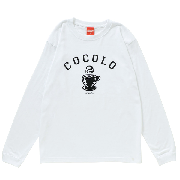 画像1: HOT COFFEE L/S TEE (WHITE)
