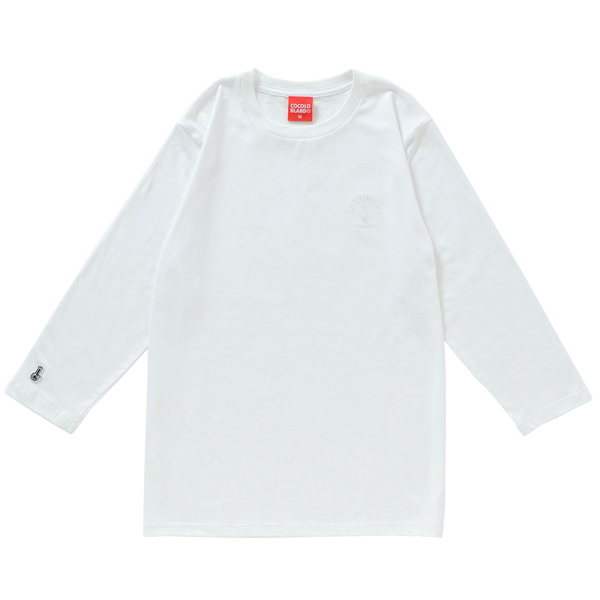 画像1: BONG EMBROIDERY 3/4 SLEEVE TEE (WHITE) (1)