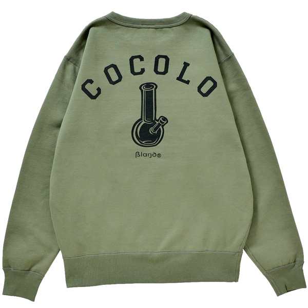 画像1: BACK BONG HEAVY CREWNECK (OLIVE) (1)