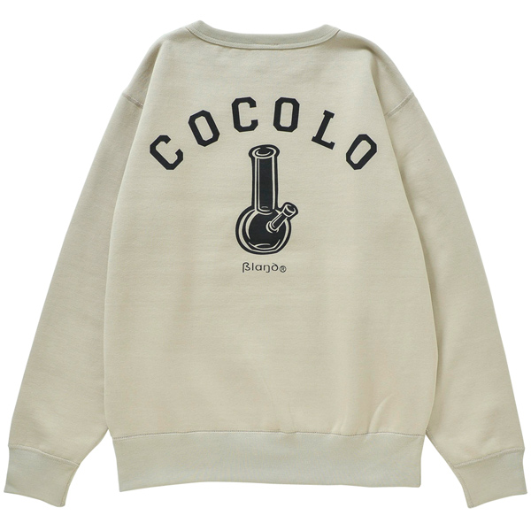 画像1: BACK BONG HEAVY CREWNECK (LIGHT BEIGE) (1)